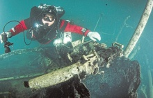 Divers discovered in Baltic Sea a wreck of a warship from 1914 .